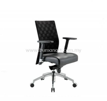 TRION EXECUTIVE LOW BACK LEATHER CHAIR WITH ALUMINIUM ROCKET DIE-CAST BASE