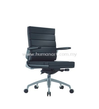TREND EXECUTIVE LOW BACK LEATHER CHAIR WITH CHROME TRIMMING LINE ACL 5033
