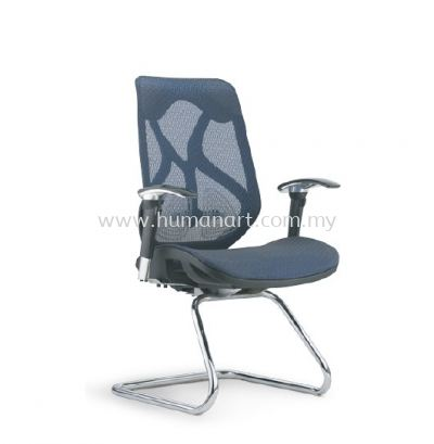 NOVUM 2 VISITOR FULLY MESH ERGONOMIC CHAIR WITH CHROME CANTILEVER BASE
