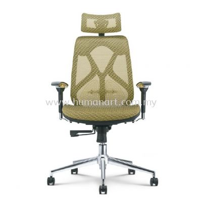 NOVUM 2 HIGH BACK FULLY MESH ERGONOMIC CHAIR WITH CHROME METAL BASE