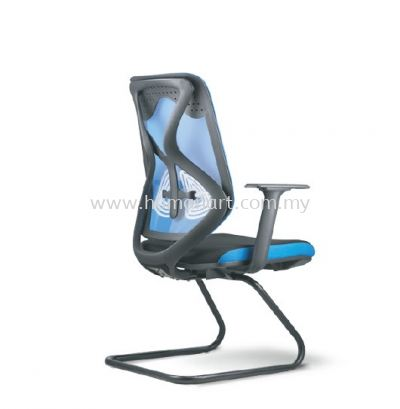 NOVUM 1 VISITOR ERGONOMIC MESH CHAIR WITH EPOXY BLACK CANTILEVER BASE