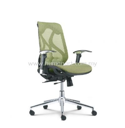 NOVUM 2 MEDIUM BACK FULLY MESH ERGONOMIC CHAIR WITH CHROME METAL BASE