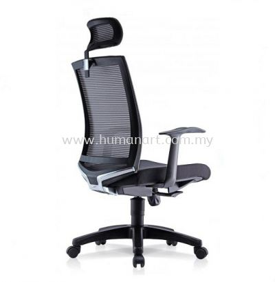 EVIN 1 HIGH BACK ERGONOMIC MESH CHAIR WITH FIXED ARMREST