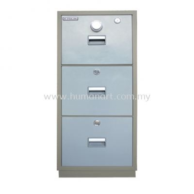FIRE RESISTANT CABINET 3 DRAWER (INDIVIDUAL LOCKING) BLUE GREY COLOR