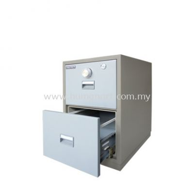 FIRE RESISTANT SAFETY BOX 2 DRAWER (CENTRE LOCKING) BLUE GREY COLOR  - subang square business centre | subang ss16 | fraser business park