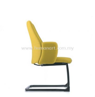 EVE DIRECTOR VISITOR LEATHER CHAIR WITH EPOXY CANTILEVER BASE AND FIXED ARMREST AEV 6413F-EA