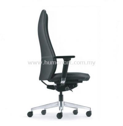 EVE DIRECTOR HIGH BACK LEATHER CHAIR WITH ALUMINIUM BASE AND ALUMINIUM ADJUSTABLE ARMREST AEV 6410L-D