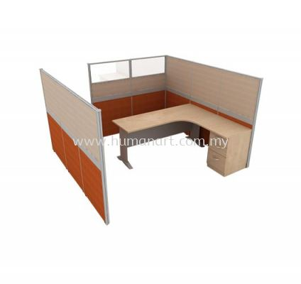 CLUSTER OF 1 OFFICE PARTITION WORKSTATION 2 - damansara perdana | damansara mutiara | selayang