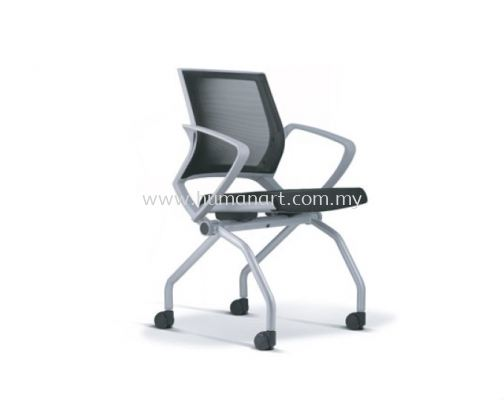 STRANDER FOLDING MESH CHAIR WITH ARM ASST 9114-LG01
