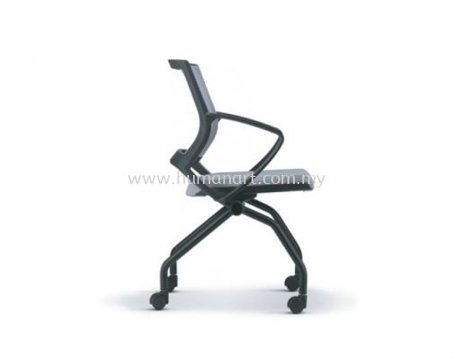 STRANDER FOLDING MESH CHAIR WITH ARM ASST 9114-BK02