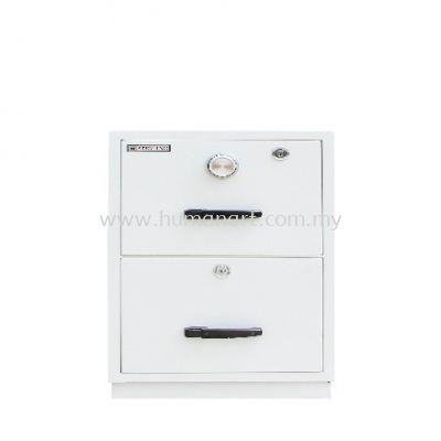 FIRE RESISTANT CABINET 2 DRAWER SAND BEIGE COLOR (INDIVIDUAL LOCKING)