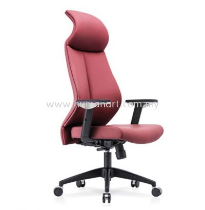 SENSE 1 EXECUTIVE CURVE HIGH BACK LEATHER CHAIR WITH NYLON ROCKET BASE HB-C 01