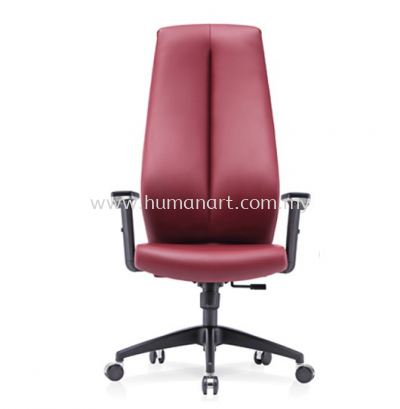 SENSE 1 EXECUTIVE EXTRA HIGH BACK LEATHER CHAIR WITH NYLON ROCKET BASE HB-C 02