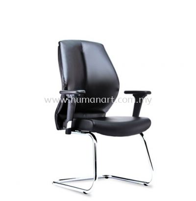 SENSE 2 EXECUTIVE VISITOR LEATHER CHAIR WITH CHROME CANTILEVER BASE VA-C 06