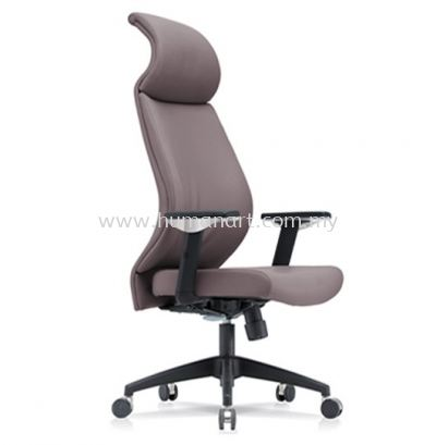 SENSE 3 EXECUTIVE CURVE HIGH BACK LEATHER CHAIR WITH NYLON ROCKET BASE HB-C 01