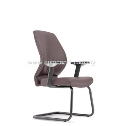 SENSE 3 EXECUTIVE VISITOR LEATHER CHAIR WITH EPOXY BLACK CANTILEVER BASE VA-C 06