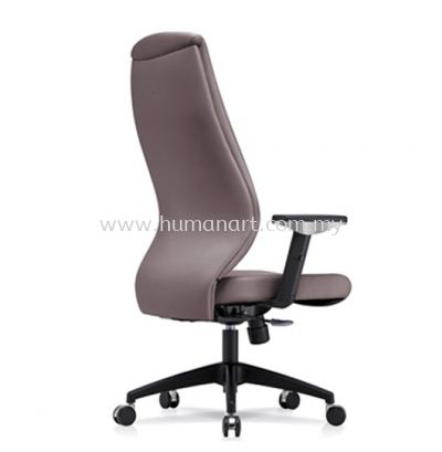 SENSE 3 EXECUTIVE HIGH BACK LEATHER CHAIR WITH NYLON ROCKET BASE HB-C 03