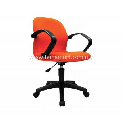 TY9 MINI LOW BACK FABRIC CHAIR C/W ARMREST AND POLYPROPYLENE BASE