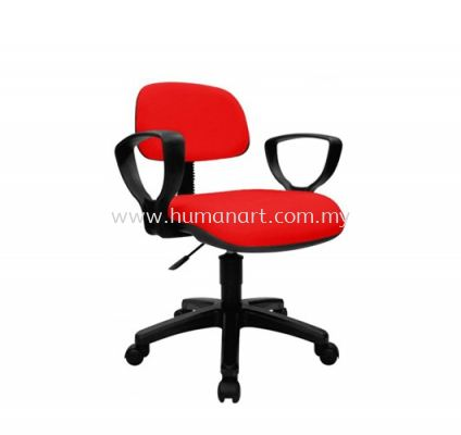 TY5 TYPIST CHAIR FABRIC WITH ARMREST AND POLYPROPYLENE BASE