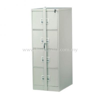 A106-LB STANDARD 4 DRAWER FILLING CABINET C/W LOCKING BAR