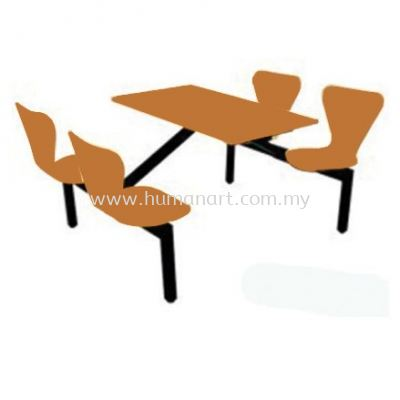 4 SEATER CAFETERIA TABLE WITH CHAIR - subang 2   kwasa damansara   chan sow lin
