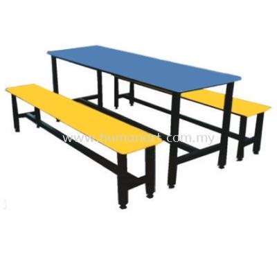 6-8 SEATER CANTEEN TABLE SET (REINFORCEMENT) - ara damansara   oasis ara damansara   taman muda