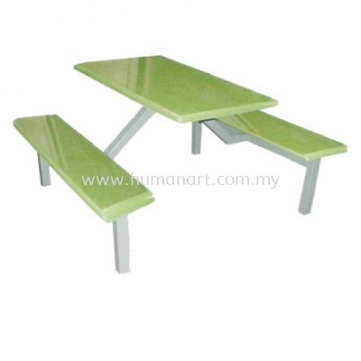 6 RECTANGULAR TABLE WITH BENCH