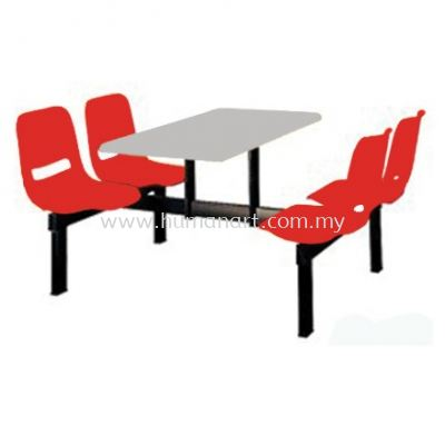 4 SEATER CAFETERIA TABLE WITH CHAIR - pj old town   pj new town   pandan indah