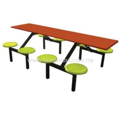 8 SEATER RECTANGULAR FIBREGLASS TABLE WITH STOOL