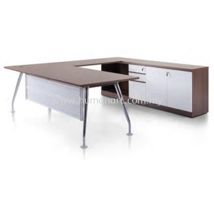 IXIA CHROME LEG DIRECTOR OFFICE TABLE- kota damansara   kwasa damansara   gombak