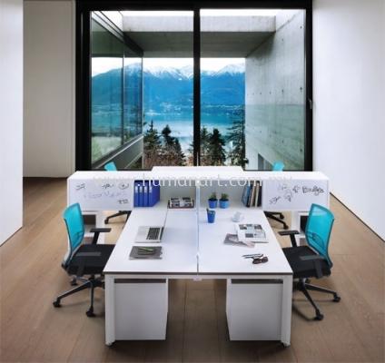 VANDA CLUSTER OF 4 OFFICE PARTITION WORKSTATION - taman oug | old klang road | desa pandan