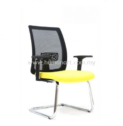 RIPON 1 VISITOR ERGONOMIC MESH CHAIR WITH CHROME CANTILEVER BASE