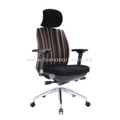 LINEAR EXECUTIVE HIGH BACK FABRIC CHAIR WITH ALUMINIUM ROCKET DIE-CAST BASE ACL 6006