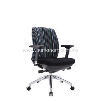 LINEAR EXECUTIVE LOW BACK FABRIC CHAIR WITH ALUMINIUM ROCKET DIE-CAST BASE ACL 6336