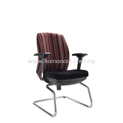LINEAR EXECUTIVE VISITOR FABRIC ARM CHAIR WITH CHROME CANTILEVER BASE ACL 6446