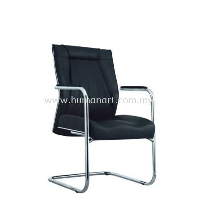 JESSI II DIRECTOR VISITOR CHAIR C/W CHROME TRIMMING LINE