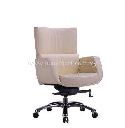BRAVO DIRECTOR LOW BACK LEATHER ARM CHAIR WITH ALUMINIUM DIE-CAST BASE ACL 3303