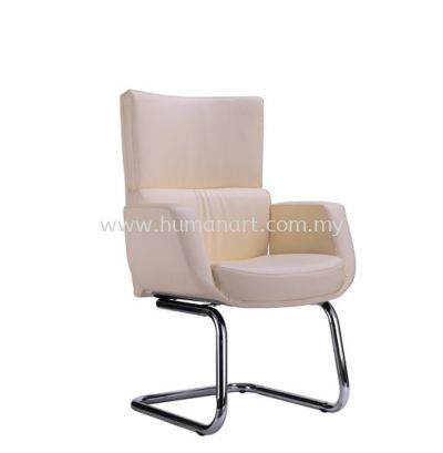 BRAVO DIRECTOR VISITOR LEATHER CHAIR WITH CHROME CANTILEVER BASE ACL 3304