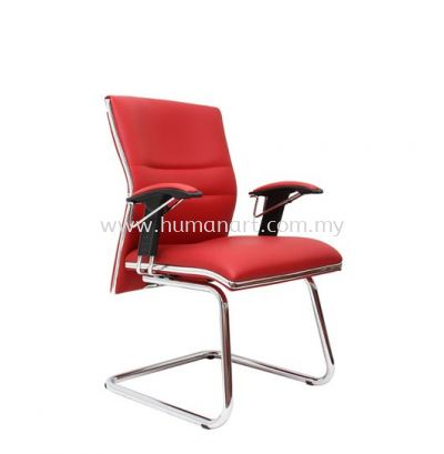 ZOLO(A) DIRECTOR VISITORLEATHER CHAIR C/W CHROME TRIMMING LINE