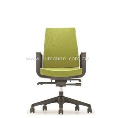 CLOVER EXECUTIVE LOW BACK FABRIC CHAIR WITH ROCKET NYLON BASE ACV 6112F