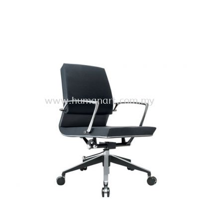 COLONNI EXECUTIVE LOW BACK LEATHER CHAIR WITH CHROME TRIMMING LINE ACL 8833