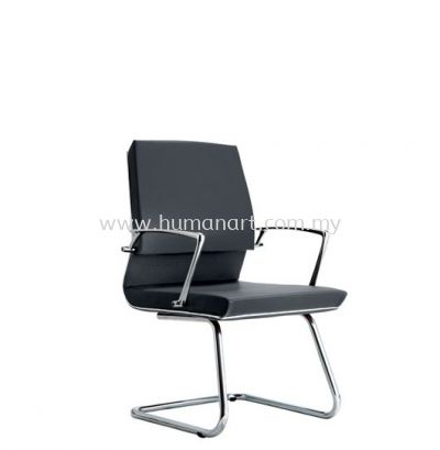 COLONNI EXECUTIVE VISITOR LEATHER CHAIR WITH CHROME TRIMMING LINE ACL 8844