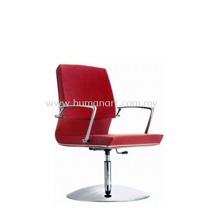 COLONNI VISITOR LEATHER CHAIR WITH CHROME TRIMMING LINE ACL 8866
