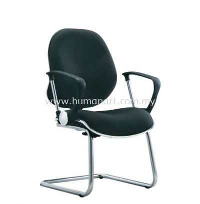 RIXIS SECRETARIAL VISITOR FABRIC CHAIR WITH CHROME TRIMMING LINE