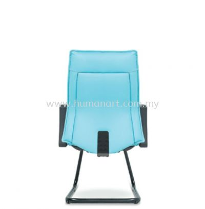CYPRUS EXECUTIVE VISITOR LEATHER CHAIR C/W EPOXY BLACK CANTILEVER BASE