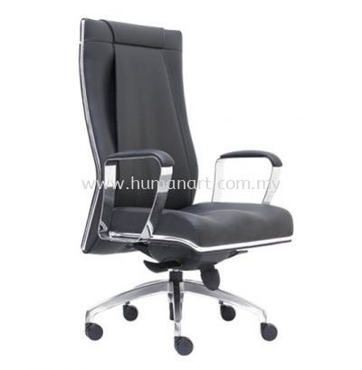 SEDIA DIRECTOR HIGH BACK LEATHER CHAIR WITH CHROME TRIMMING LINE