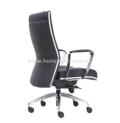 SEDIA DIRECTOR MEDIUM BACK LEATHER CHAIR WITH CHROME TRIMMING LINE
