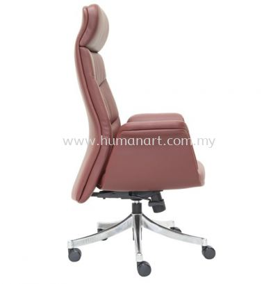 OXFORD DIRECTOR HIGH BACK LEATHER CHAIR WITH ROCKET ALUMINIUM BASE
