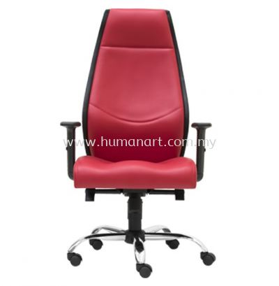 LUTON DIRECTOR HIGH BACK LEATHER OFFICE CHAIR - ultramine industrial park | taipan business centre | pudu