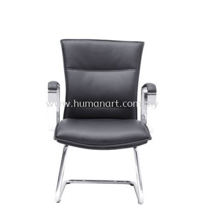 HALLFAX DIRECTOR VISITOR LEATHER CHAIR C/W CHROME CANTILEVER BASE